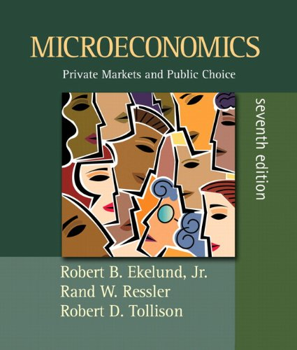 Microeconomics : Private Markets and Public Choice: Rand W. Ressler;
