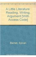 9780321451859: A Little Literature: Reading, Writing, Argument