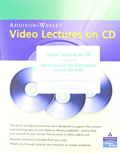 9780321453655: Video Lectures on CD with Optional Captioning for Mathematics for Elementary School Teachers