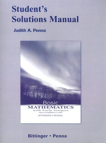 9780321453907: Student Solutions Manual for Basic Mathematics with Early Integers