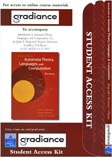 9780321455376: Gradiance Access Card for Introduction to Automata Theory, Languages, and Computation