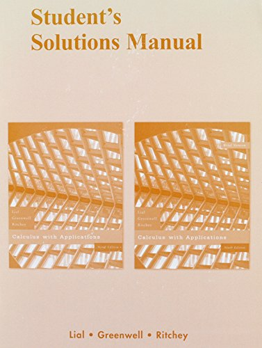 9780321455697: Student Solutions Manual for Calculus with Applications