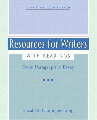 9780321456670: Resources for Writers, with Readings (with MyWritingLab) (2nd Edition)
