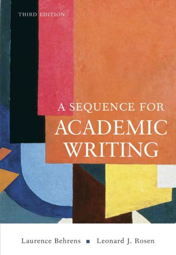 9780321456816: Sequence for Academic Writing, A (3rd Edition)