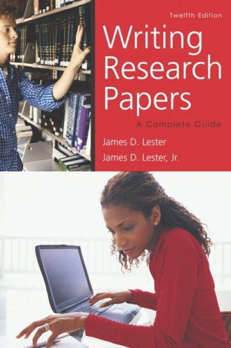 9780321457981: Writing Research Papers (perfect bound) (12th Edition)