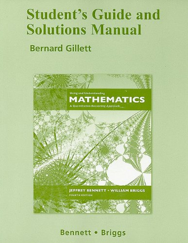 9780321460226: Student Study Guide and Solutions Manual for Using and Understanding Mathematics
