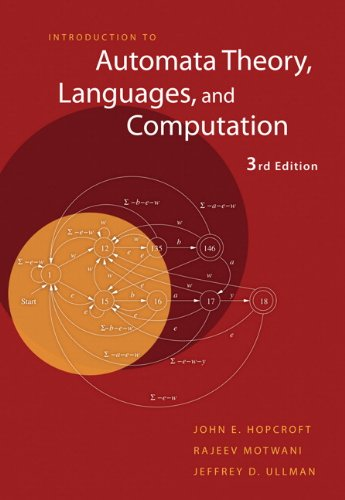 9780321462251: Introduction to Automata Theory,  Languages, and Computation (3rd Edition)