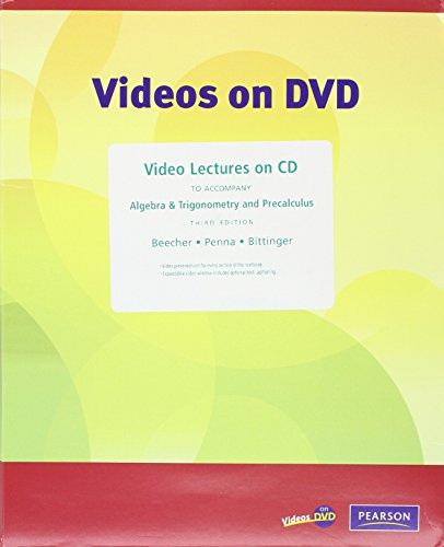 9780321464637: Video Lectures on CD with Optional Captioning for Algebra & Trigonometry and Precalculus
