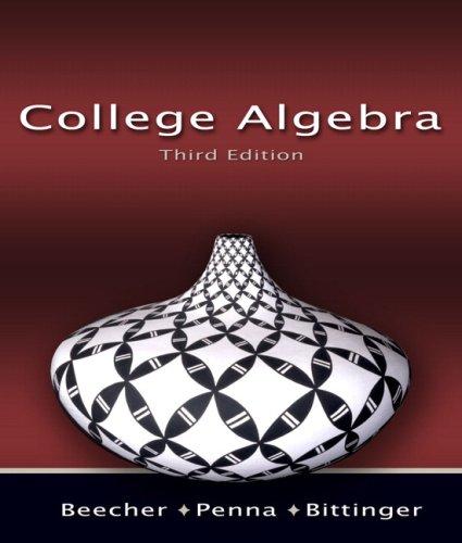 9780321466075: College Algebra (3rd Edition)