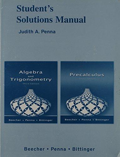 9780321466440: Algebra & Trigonometry Solutions Manual
