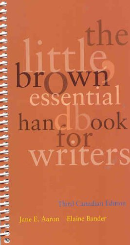 9780321468284: The Little, Brown Essentials Handbook, Third Canadian Edition