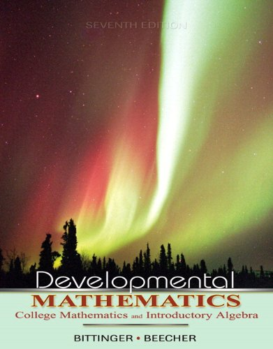9780321468420: Developmental Mathematics (7th Edition)