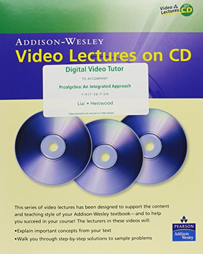 9780321471192: Digital Video Tutor for Prealgebra: An Integrated Approach