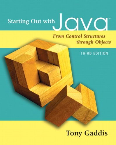 9780321479273: Starting Out with Java: From Control Structures through Objects (3rd Edition)