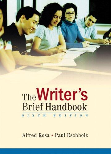 9780321479365: Writer's Brief Handbook, The (6th Edition)