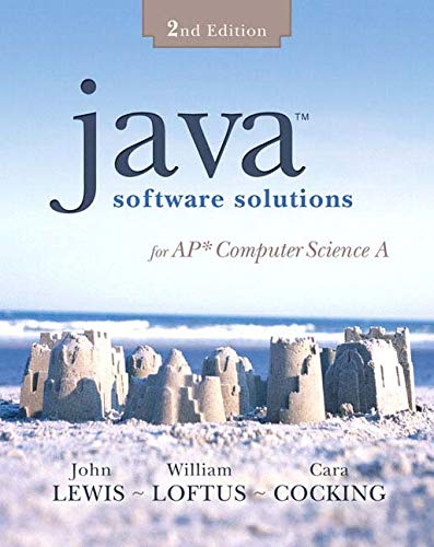 9780321479815: Java Software Solutions for Ap Computer Science