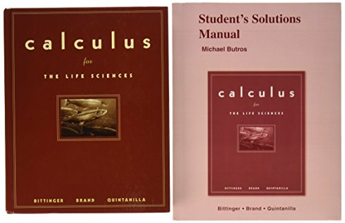 9780321481238: Calculus for the Life Sciences & Student Solutions Manual for Calculus for the Life Sciences Package