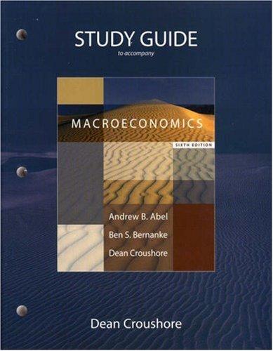 9780321482198: Study Guide for Macroeconomics