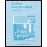 9780321482365: Student Solutions Manual for College Algebra