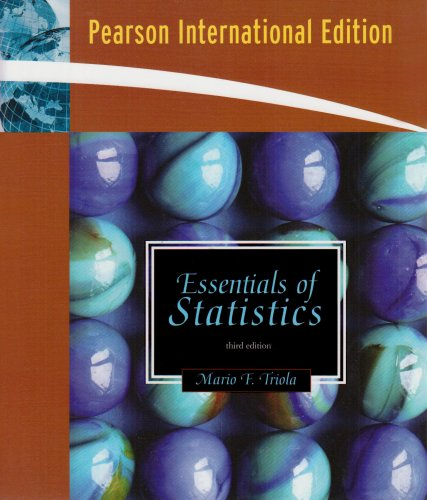 9780321484093: Essentials of Statistics: International Edition