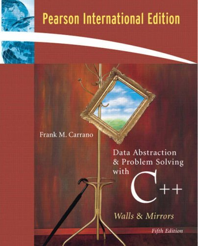 9780321485007: Data Abstraction & Problem Solving with C++:International Edition: Walls and Mirrors