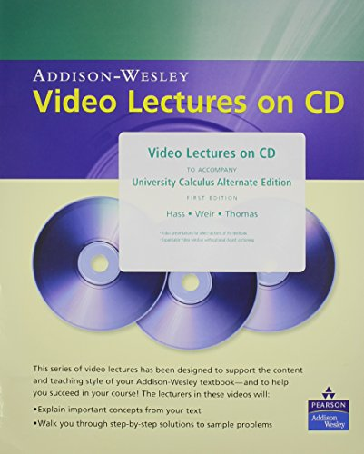 9780321485533: Video Lectures on CD with Optional Captioning for University Calculus: Alternate Edition