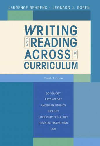 9780321486431: Writing and Reading Across the Curriculum (10th Edition)
