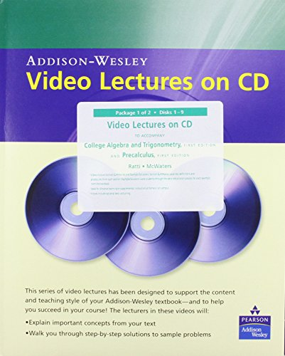 9780321486509: Video Lectures on CD with Optional Captioning for College Algebra and Trigonometry: Video Lectures with Optional Captioning