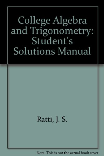 9780321486707: Student Solutions Manual for College Algebra and Trigonometry
