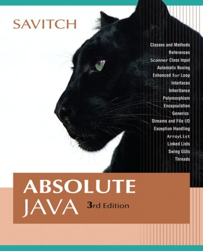 9780321487926: Absolute Java (3rd Edition)