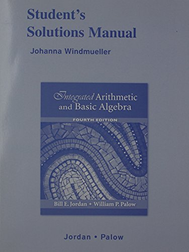 9780321489630: Student Solutions Manual for Integrated Arithmetic and Basic Algebra