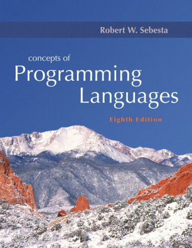 9780321493620: Concepts of Programming Languages (8th Edition)