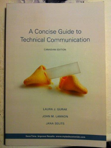 9780321494177: A Concise Guide to Technical Communication