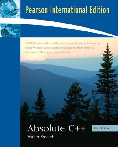 9780321494382: Absolute C++: International Edition