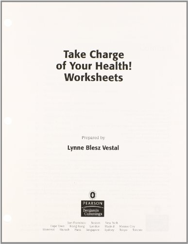 9780321499424: Take Charge of Your Health Worksheets