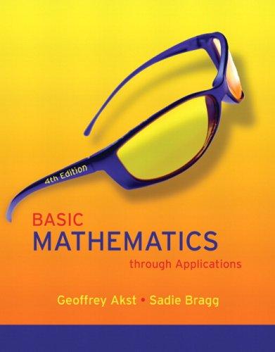9780321500113: Basic Mathematics through Applications (4th Edition)