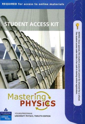 9780321500281: Mastering Physics for University Physics: Student Access Kit