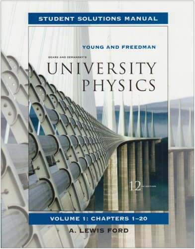 9780321500632: University Physics, Volume 1 Student Solutions Manual