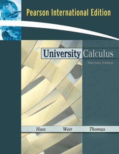 9780321500977: University Calculus: Alternate Edition: International Edition
