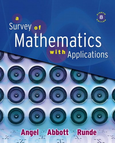 9780321501073: Survey of Mathematics with Applications, A (8th Edition)