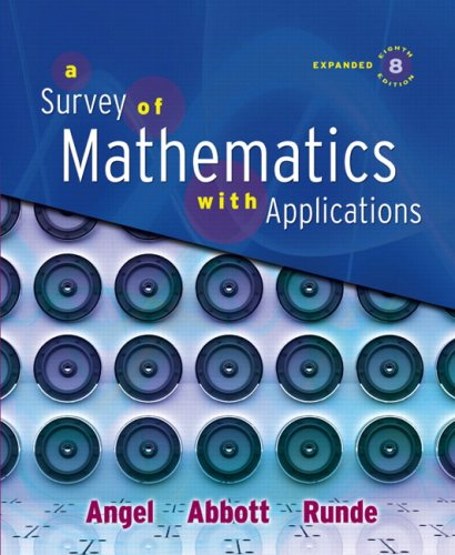 9780321501080: A Survey of Mathematics with Applications, Expanded Edition (8th Edition)