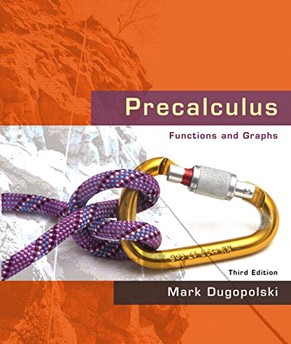 9780321501110: Precalculus: Functions and Graphs (3rd Edition)
