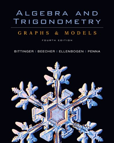 9780321501516: Algebra and Trigonometry: Graphs &Models and Graphing Calculator Manual Package (4th Edition)
