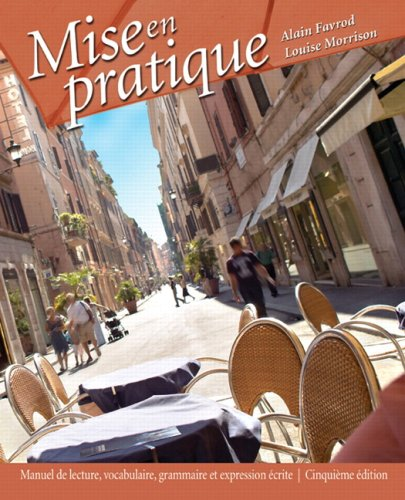Mise en Pratique: Alain Favrod; Louise