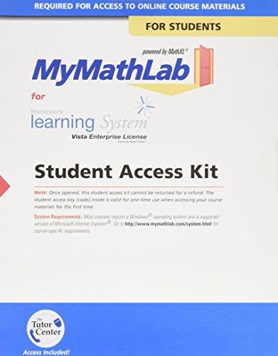 9780321507341: MyMathLab Vista/iCollege -- Standalone Access Card