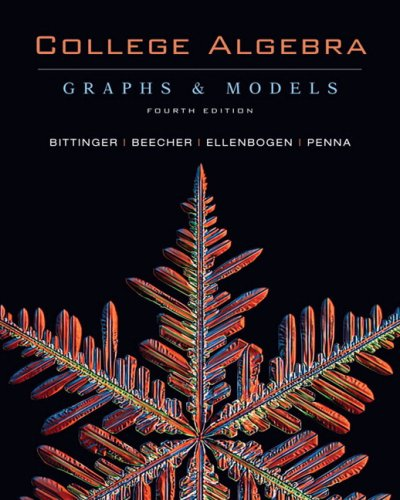 9780321521033: College Algebra: Graphs and Models with Graphing Calculator Manual Value Package (includes Pearson TI Rebate Coupon $15)
