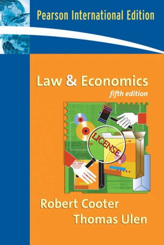 9780321522900: Law and Economics: International Edition