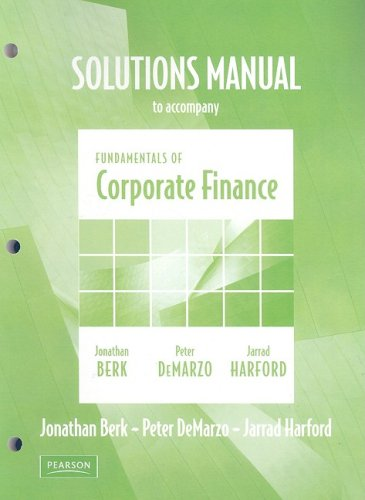 9780321523235: Fundamentals of Corporate Finance: Solutions Manual