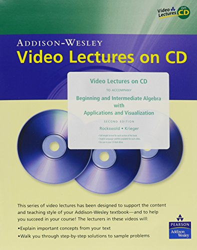 Video Lectures on CD for Beginnilng and: Gary K. Rockswold,