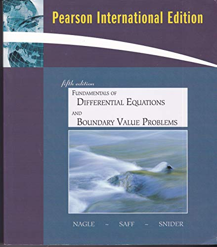 9780321526540: Fundamentals of Differential Equations and Boundary Value Problems Fifth Edition [Pearson International Edition]